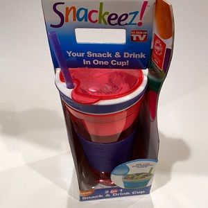NEW Snackeez Pink & Purple Snack & Drink Cup